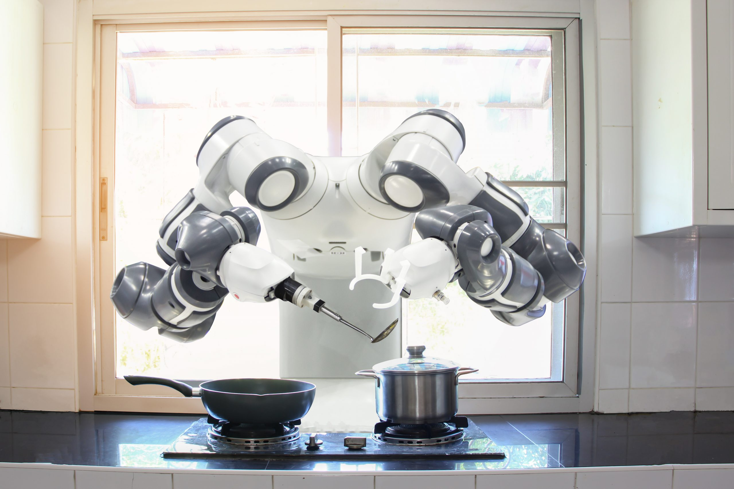 Cooking robot with computer vision
